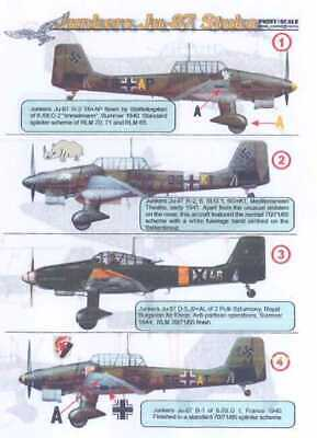 $9.99 • Buy Print Scale Decals 1/48 JUNKERS Ju-87 STUKA Dive Bomber