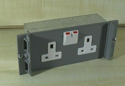 MK 61442 2 Gang Switch Socket Outlet Module Floor Box Unwired • 9.99£