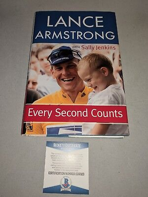 LANCE ARMSTRONG Signed Autographed  EVERY SECOND COUNTS  1st ED BOOK BECKETT COA • 54.26£