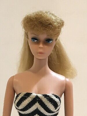 $ CDN263.64 • Buy Vintage Blonde Barbie Ponytail With Rare Painted Legs - Beautiful - No Green