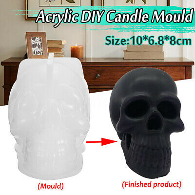 Skull Shape Silicone Candle Making Mold Mould Wax Form Template Craft Tool DIY • 7.99£