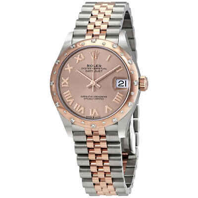 $ CDN19176.64 • Buy Rolex DateJust 31 Rose Dial Automatic Ladies Stainless Steel 18 Ct Everose Gold
