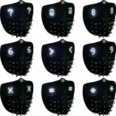 $ CDN49.90 • Buy Watch Dogs 2 Mask Cosplay Marcus Wrench LED Light Rivet Face Halloween PVC Mask