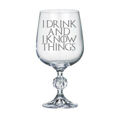 £10.99 • Buy I Drink And I Know Things Game Of Thrones Inspired 11oz Wine Goblet