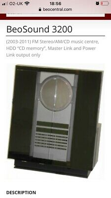 £500 • Buy Bang And Olufsen Beosound 3200 CD Player  Hard Drive, Just Been Serviced.