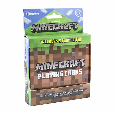 £6.99 • Buy Minecraft Playing Cards Includes Collectors Embossed Storage Tin Ideal For Games