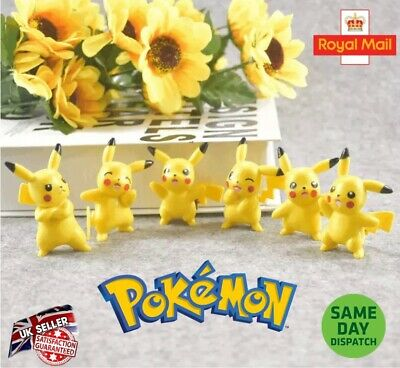 Pokemon Pikachu Figures Party Bag Filler Go Pokeball Eevee Piichu Uk Seller • 3.99£