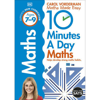 10 Minutes A Day: Maths Ages 7-9 By Carol Vorderman (Paperback), Books, New • 7£
