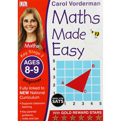 Maths Made Easy: Ages 8-9 By Carol Vorderman (Paperback), Books, Brand New • 5£