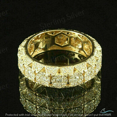 $98.69 • Buy 2.50 CT Diamond Men's Eternity Cluster Band Ring 14K Yellow Gold Over 925-Silver