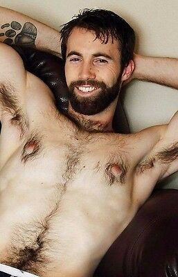$ CDN4.43 • Buy Shirtless Male Hairy Chest Pits Bearded Hunk Beefcake Hot Daddy PHOTO 4X6 D169