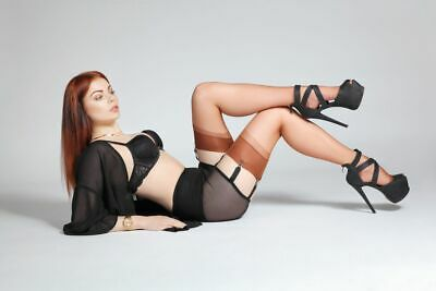 French Nylons, RHT Stockings, 100% Nylon, Various Colours And Sizes • 14.99£