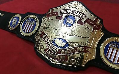 $274.99 • Buy Nwa United States Championship Belt In 4mm Zinc Deep Etching 24kt Gold Plated!