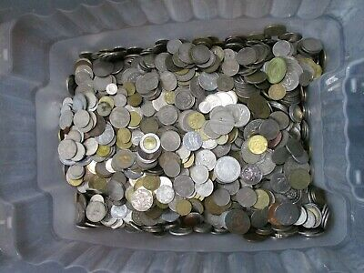 BULK COLLECTION 1.5kg / 1500g MIXED FOREIGN / WORLD COINS, JOB LOT Of NICE COINS • 17.99£