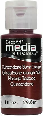 DecoArt Media Fluid Acrylics Paint 1oz-Quinacridone Burnt Orange (Series 5) -DMF • 9.93£