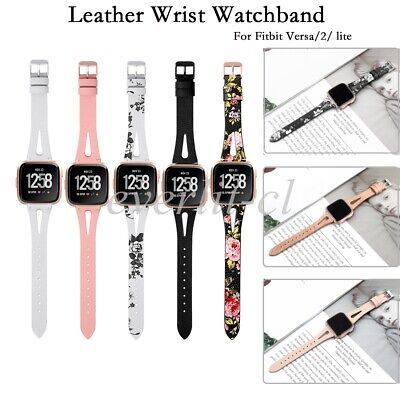 $ CDN10.46 • Buy Leather Bands For Fitbit Versa 2/Versa Lite/Fitbit Versa Wristbands Replacement