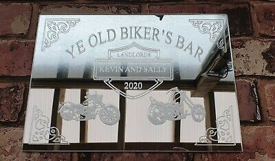 Pub Shed Bar Mirror A4 Acrylic Personalised Unique Bespoke Designs Man Cave Gift • 21£