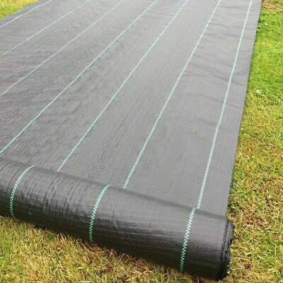 £32.99 • Buy 100m Heavyduty Strong Weed Control Fabric Garden Ground Uv Cover Landscape Sheet