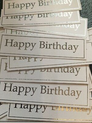 Happy Birthday X 24 Banners/captions/embellishments/toppers/card Making • 2.45£
