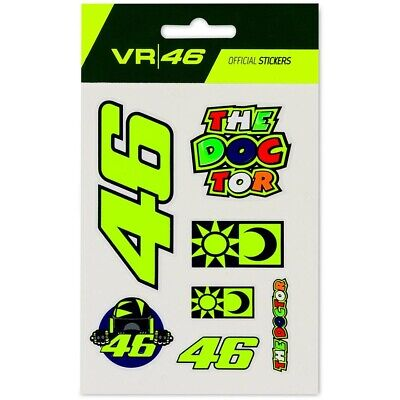 New - VR46 2020 Official Valentino Rossi Universal Classic SMALL Sticker Set • 7.99£