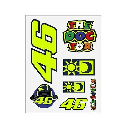 New - VR46 2020 Official Valentino Rossi Universal Classic BIG Sticker Set • 11.99£