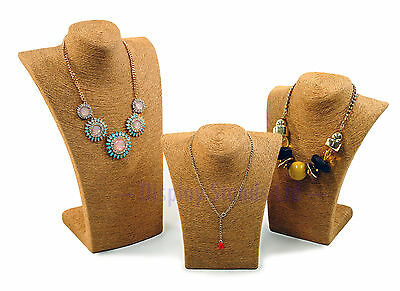 Necklace Bust Natural Fibre Grass Display For Jewellery Storage Shop (G713-5) • 15.23£