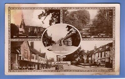 Super 1906 Old Car Colnbrook Multi-view Berkshire Rp Photo Vintage Postcard  • 0.99£