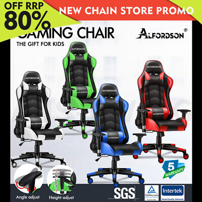 AU129.85 • Buy ALFORDSON Gaming Chair Office Executive Racing Seat PU Leather Computer REGAN
