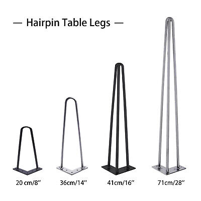 £16.90 • Buy 4 PCS Hairpin Table Legs 10 & 12mm Steel 2 & 3 Prong Furniture Table Desk Bench