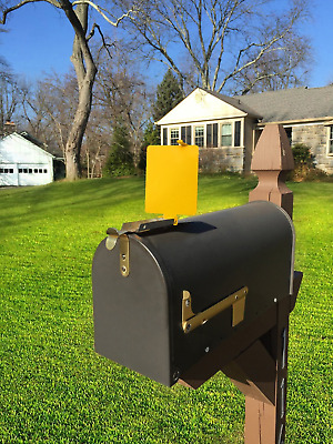 $22.47 • Buy Mail Time! ® Yellow Mailbox Alert Signal Flag For Long Rural Driveways
