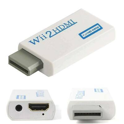 Wii Input To HDMI 1080P HD Audio Output Converter Adapter Cable Jack Audio UK • 0.99£