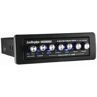 $ CDN60.74 • Buy Audiopipe EQ57MOTO 5 Band Graphic Equalizer 7V Line Driver