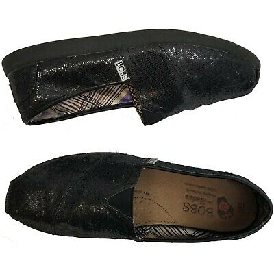 $19.99 • Buy Bobs For Skechers Shoes Black Sequin Alpargata Flats Womens Size 8.5W