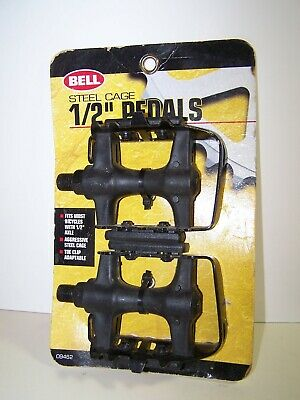 $12.99 • Buy Bell Steel Cage 1/2  Pedals 2 Pack 09462 NIP