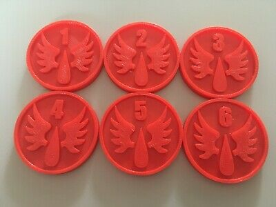Warhammer Objective Markers Blood Angels X6 3D Printed War Game Accessory • 4.95£