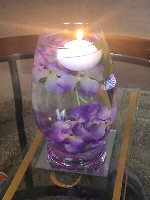$15 • Buy NEW Glass Vase & Accessories For Floating Candle Centerpiece