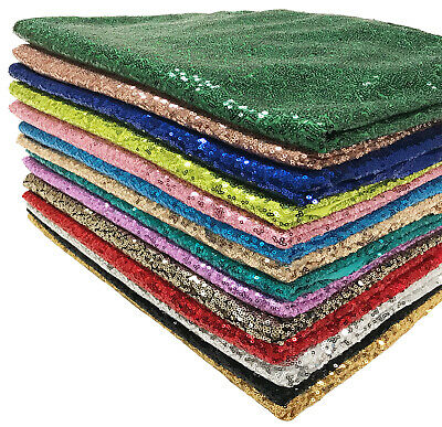 Sequin Fabric Sparkly Shiny Bling Cloth Craft Dress Wedding Material 130cm Wide • 4.89£