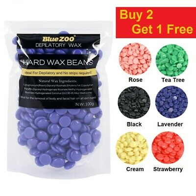 Genuine Big Hard Hot Wax Beans No Strips Painless Waxing Body Hair Removal Kit • 5.99£