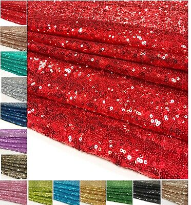 Sequin Fabric 3mm Mini Sparkly Shiny Wedding Dress Bling Glitter Cloth Material • 4.95£