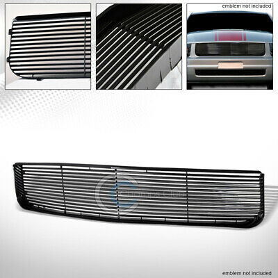 $64.95 • Buy Fit 05-09 Ford Mustang V6 Glossy Black Horizontal Front Hood Upper Bumper Grille