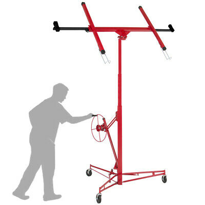 Mobile Drywall Lift & Lifter 11ft Plaster Board Panel Hoist With Caster Wheels • 190.95£