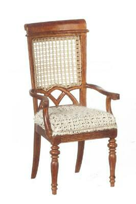 Dolls House Berger French Elbow Carver Chair JBM Wlanut Dining Room Furniture • 59.99£