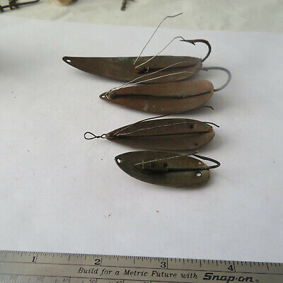 $ CDN4.58 • Buy  Fishing Lures Unbranded Vintage Weedless  Mouse Spoon & 3¾ , 2¾ , 1¾  Weedless