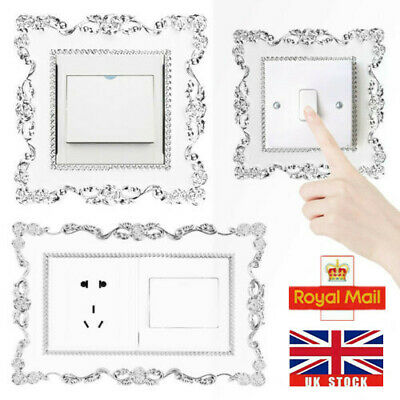 Resin Single Double Light Switch Surround Socket Plate Panel Cover Wall Sticker • 2.37£