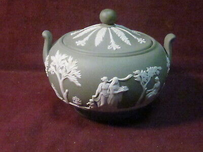 $20 • Buy Wedgwood England White On Green GREEK FIGURES 4 3/4  X 3 3/4