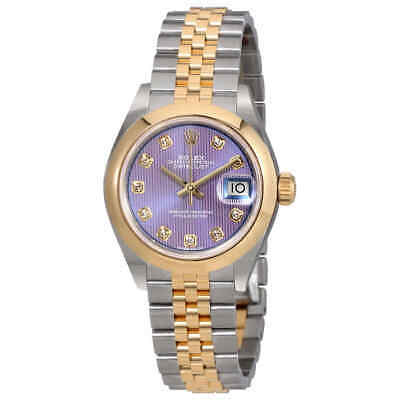 $ CDN14203.07 • Buy Rolex Lady Datejust 28 Lavender Dial Steel And 18k Yellow Gold Jubilee Watch