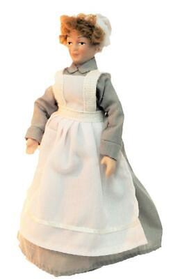 $ CDN26.40 • Buy Dolls House Victorian Servant Maid Cook In Grey Porcelain People