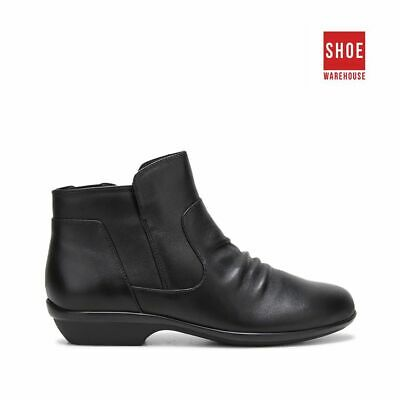 AU69 • Buy Hush Puppies PATTY Black Womens Ankle Boot Casual Leather Boots