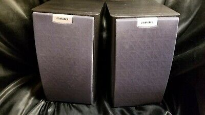 $19.98 • Buy Vintage Aiwa Bookshelf  2 Way Speaker System SX-M152 (1 PAIR) MADE IN JAPAN!