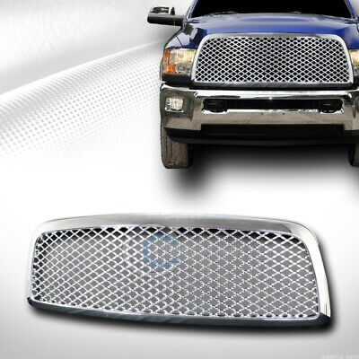 $121.95 • Buy Fits 09-12 Dodge Ram 1500 Chrome Mesh Front Hood Bumper Grill Grille Guard ABS